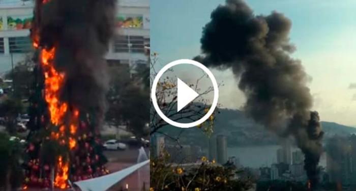 Incendio-Arbol-de-Navidad-en-Acapulco
