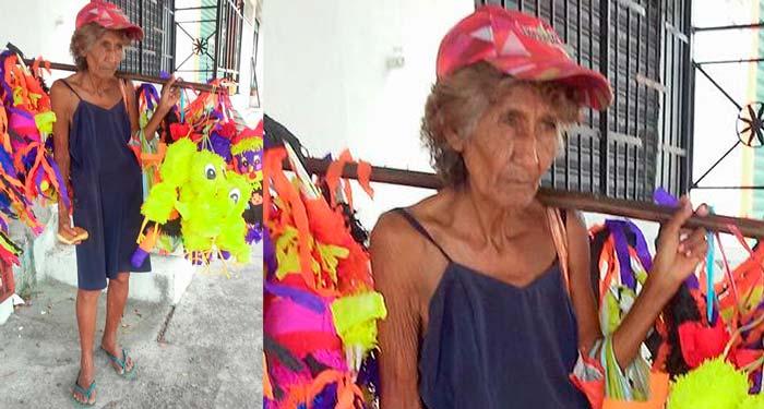 Camina todos los días desde Costera hasta la Zapata vendiendo piñatas