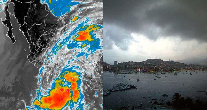 Se forma Tormenta Tropical frente a las Costas de Guerrero