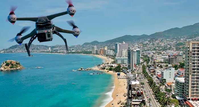 7 Drones vigilarán a Acapulco para acabar con la inseguridad