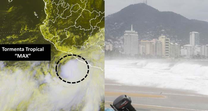 Tormenta Tropical «Max» impactará en Acapulco