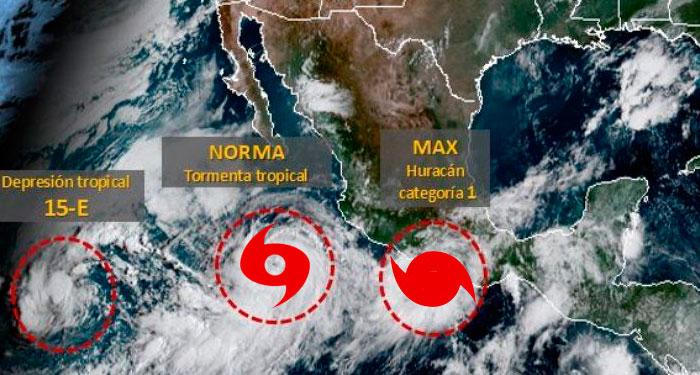 «Norma» la Tormenta Tropical que viene detrás de «Max»