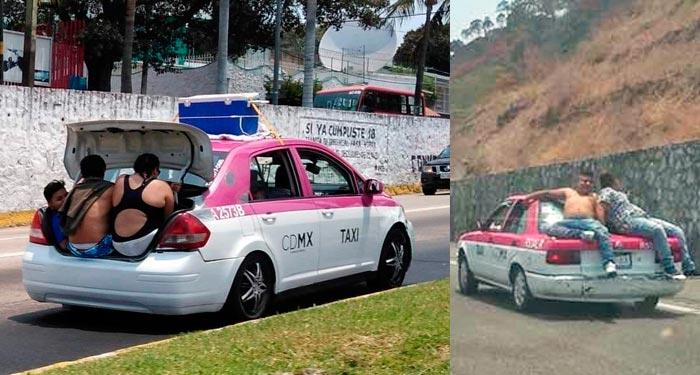 Chilangos rompen las reglas de tránsito en Acapulco