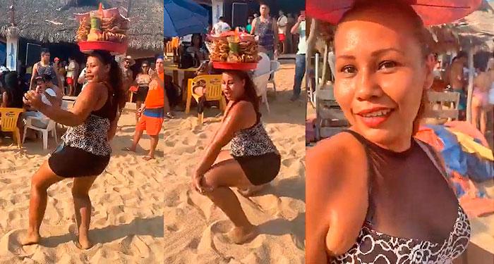 La guapa vendedora de quesadillas que baila en las playas de Acapulco