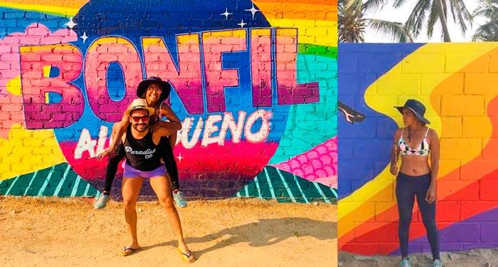 Convierten a Playa Bonfil en una «playa mágica» con murales